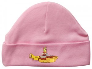 EMBROIDERED CHILD'S PINK BEANIE