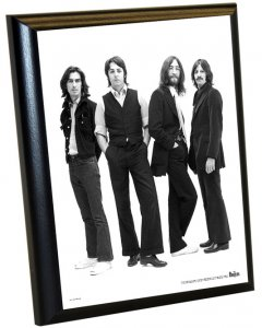 "BEATLES 1969 ICONIC IMAGE 8"" x 10"" PLAQUE"