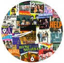 THE BEATLES COLLAGE WOOD WALL CLOCK