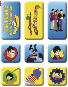 BEATLES YELLOW SUBMARINE 9 PIECE MINI MAGNET SET