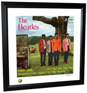 BEATLES PENNY LANE (VERSION 2) LITHOGRAPH - FRAMED