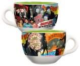BEATLES ALBUM COLLAGE 20 OZ CERAMIC SOUP MUG