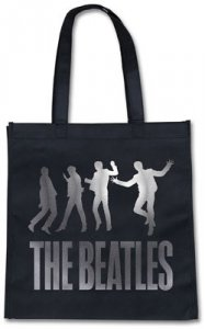 BEATLES JUMPING BLACK ECO TOTE