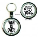JOHN LENNON WAR IS OVER SPIN KEY CHAIN