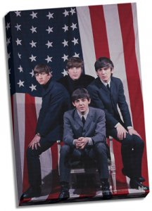 "THE BEATLES U.S. FLAG 24"" X 36"" CANVAS"