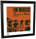 BEATLES WE CAN WORK IT OUT LITHOGRAPH - FRAMED