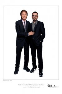 ROB SHANAHAN WHITE PAUL & RINGO ART PRINT