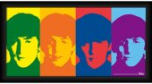 "BEATLES 1964 COLORED HEADS 10"" x 20"" FRAMED"