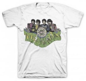 BEATLES SGT. PEPPER IMAGE WHITE TEE - XXL