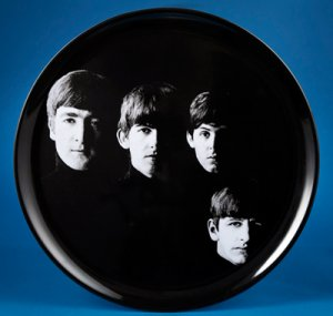 "14"" WITH THE BEATLES ROUND TRAY"