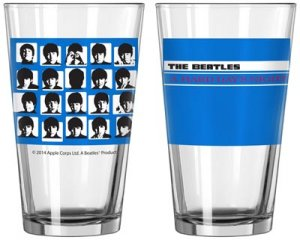 HARD DAYS NIGHT BLUE PINT GLASS