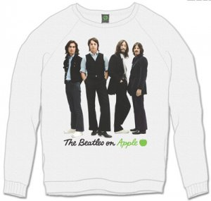 THE BEATLES ICONIC IMAGE WHITE SWEATSHIRT