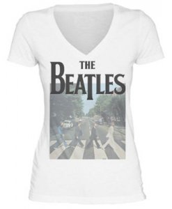 JR GIRLS BEATLES ABBEY RD V-NECK T - SIZE SMALL