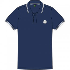 BEATLES NAVY UNISEX POLO WITH DRUM LOGO