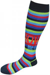 LOVE ME DO STRIPED WOMEN'S KNEE HIGHS