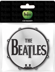 BEATLES DRUM LOGO CAR MAGNET