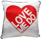"THE BEATLES ""LOVE ME DO"" PILLOW"