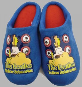 BEATLES YELLOW SUBMARINE CHILD'S SLIPPERS - Large Save 35%
