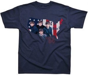 BEATLES U.S.A. '64 NAVY TEE