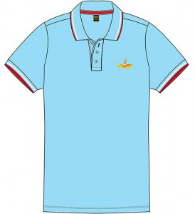 YELLOW SUBMARINE AQUA UNISEX POLO