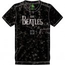 BEATLES LOGO SNOW WASHED BLACK TEE