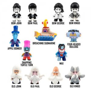 "YELLOW SUBMARINE TITAN SERIES TWO- 3"" FIGURES, BOX OF 18"