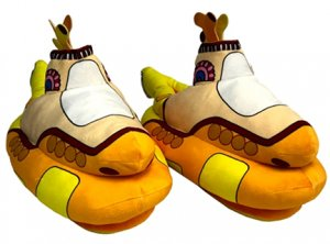 YELLOW SUBMARINE SHAPED ADULT SLIPPERS