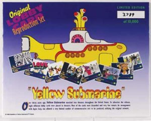 YELLOW SUBMARINE LOBBY CARD SET Save 37% - 4 Left
