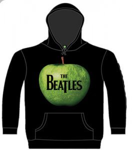 THE BEATLES APPLE LOGO BLACK HOODIE