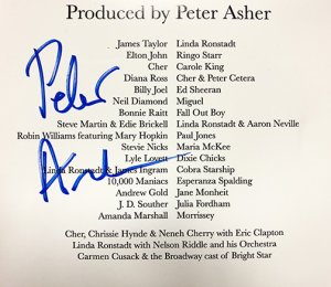 SIGNED COPIES - PRODUCED BY PETER ASHER - 2 CD SET