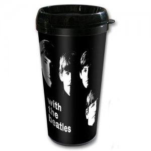 WITH THE BEATLES PLASTIC TRAVEL MUG