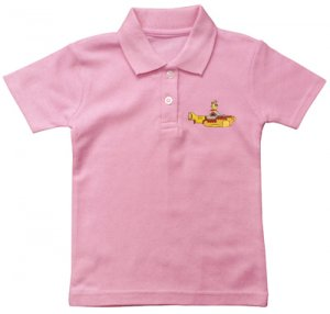 CHILDS EMBROIDERED POLO PINK - 1-2 YR