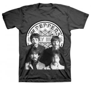 BEATLES SGT. PEPPER GROUP PHOTO BLACK T