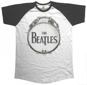 BEATLES VINTAGE DRUM RAGLAN TEE