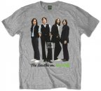 ICONIC BEATLES ON APPLE GRAY T-SHIRT