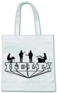 BEATLES HELP! PERFORMING WHITE ECO TOTE