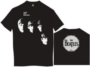 WITH THE BEATLES/DRUM LOGO BLACK TEE