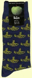 NAVY YELLOW SUB MEN'S SOCKS