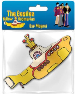 YELLOW SUBMARINE SHAPED CAR MAGNET