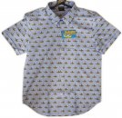 YELLOW SUBMARINE BLUE S/S BUTTON-DOWN SHIRT