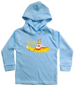CHILD'S HOODED YELLOW SUBMARINE L/S BLUE TEE - 5-6 YR