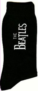 THE BEATLES VERTICAL LOGO MEN'S SOCKS
