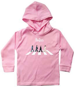 CHILD ABBEY RD HOODED L/S PINK T - 5-6 YRS