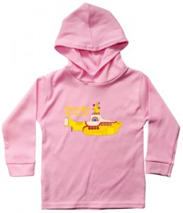 CHILD'S HOODED YELLOW SUBMARINE L/S PINK SHIRT