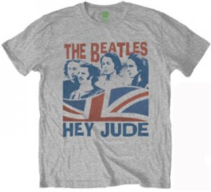 THE BEATLES WINDSWEPT HEY JUDE HEATHER T-SHIRT