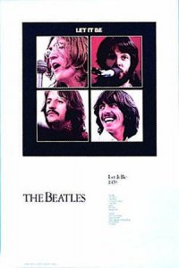 BEATLES LET IT BE ART PRINT