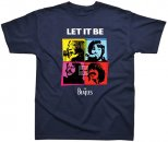 BEATLES LET IT BE IN COLOR NAVY T-SHIRT