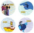 "YELLOW SUBMARINE 4 PIECE 10"" CERAMIC DINNER PLATES"