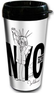JOHN LENNON POWER TO THE PEOPLE TRAVEL MUG - Save 30%