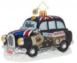 BEATLES U.S. ALBUMS LONDON TAXI GLASS ORNAMENT - Last One